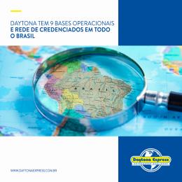 Daytona tem 9 bases operacionais e rede de credenciados em todo o Brasil
