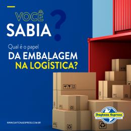 Qual é o papel da embalagem na logística?