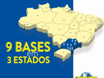 9 bases em 3 Estados